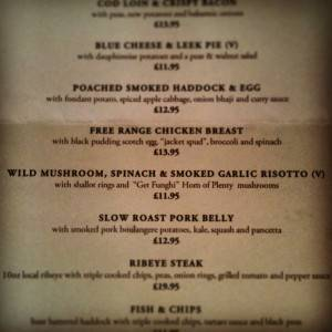 Horn of Plenty on the menu at the Hare & Hounds Mill Brow.