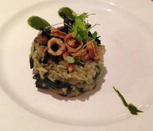 Wild Mushroom Risotto at the Hare and