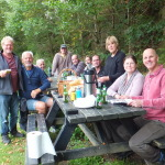 Satisfied foragers in Hayfield October 2014