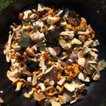 Wild mushroom foray fry up
